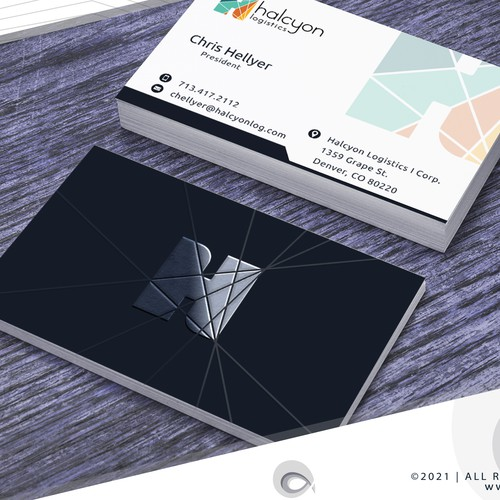 Cool Logo and Business Cards for Logistics/Delivery CO