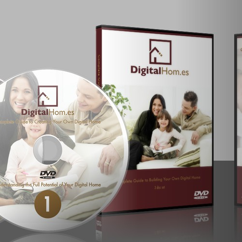DVD Art for Digital Hom.es, plus web button/graphic