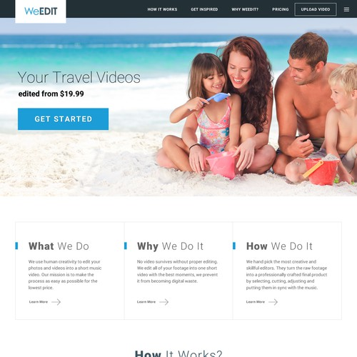 video edit website design