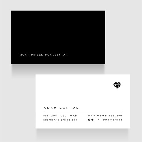 Most prized minimal business-card