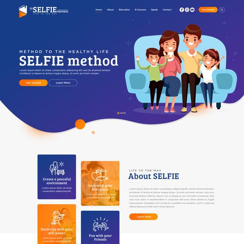 Website Design for SELFIE method - Life to the Max