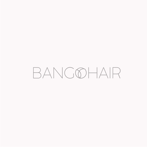 minimalist concept logo for hair studio