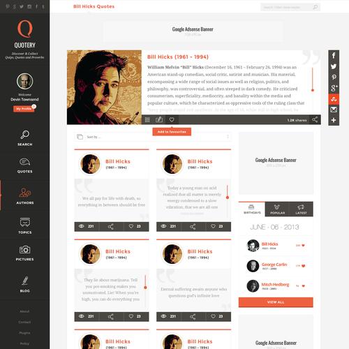 Quotery.com | Website Design