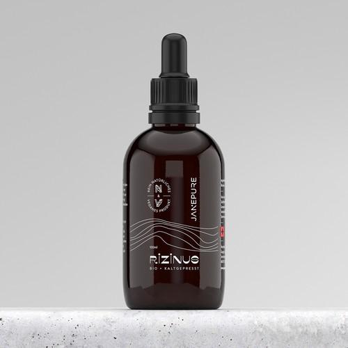 Ricinus Oil Modern Label Concept
