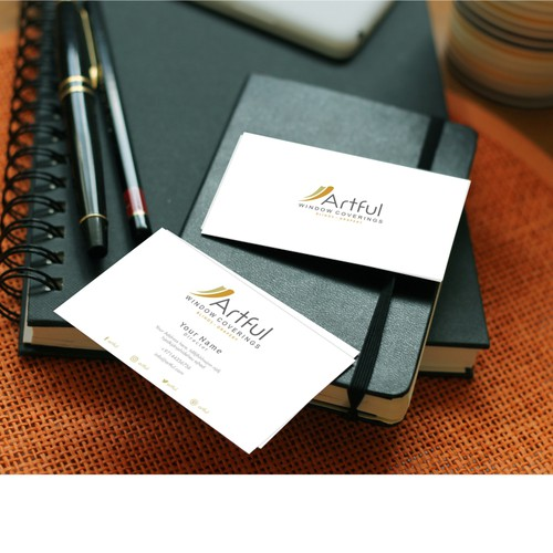 logo and businesscard design for artful window coverings