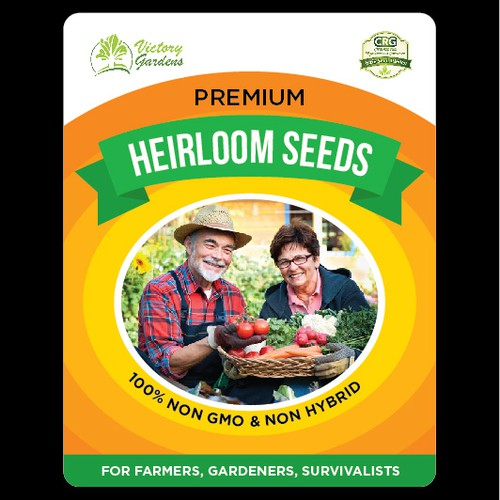 Heirloom Seeds Label Design