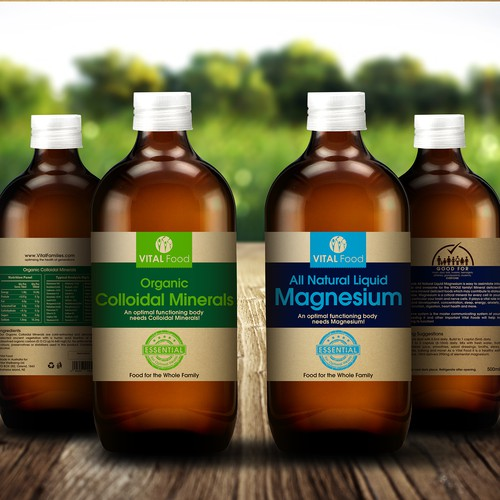 Family Organic Food Label