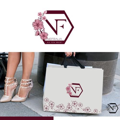 Creare un logo femminile per Nefralia, un nuovo brand di sandali da donna