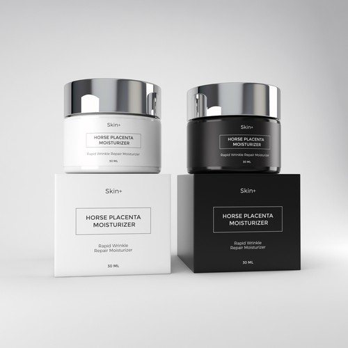 Clean packaging design skin care line