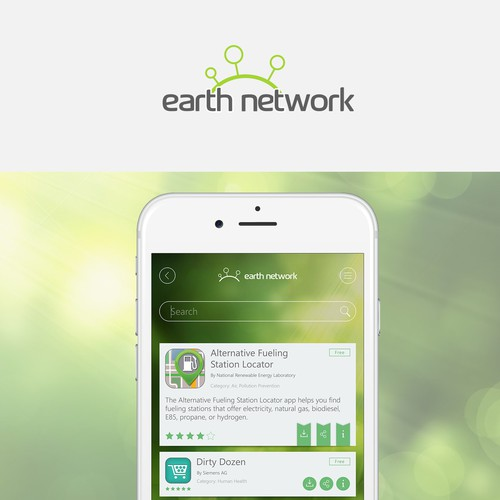 App and logo concept for Earth Network