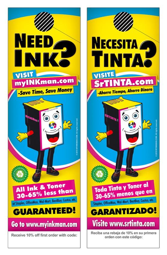 New postcard or flyer wanted for MYINKMAN.COM & SRTINTA.COM