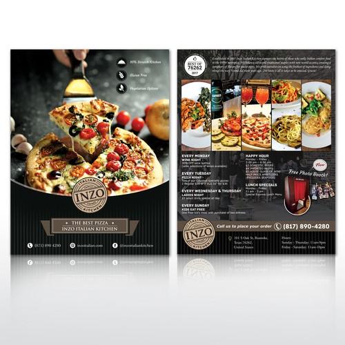 Flyer for Italian Restaurant
