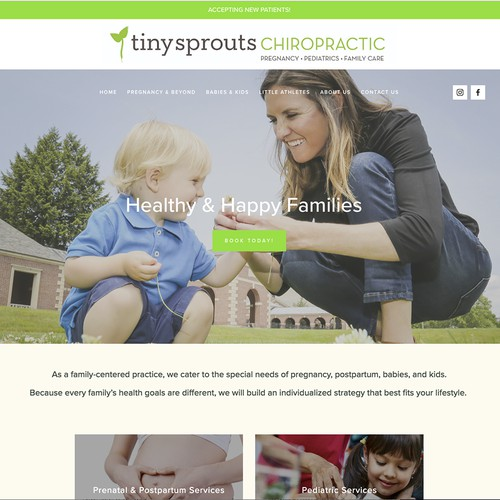 Medical office Squarespace website design and patient portal