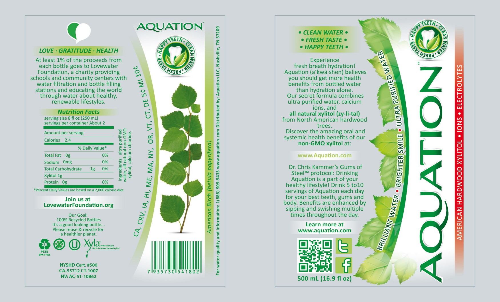 Create the next product label for AQUATION, LLC