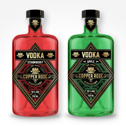 VODKA BOTTLE LABEL FOR MICRO DISTILLERY
