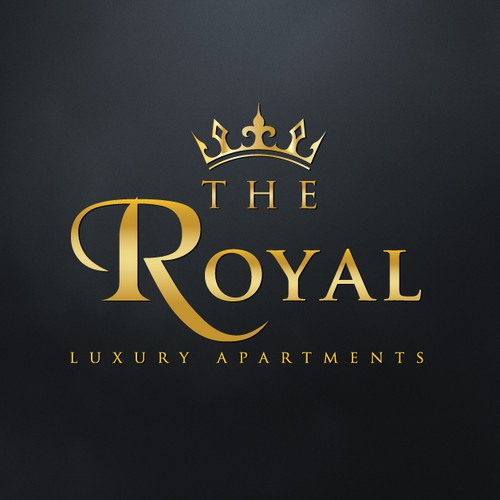 Give me a sign of Royalty, luxury, apartment homes.