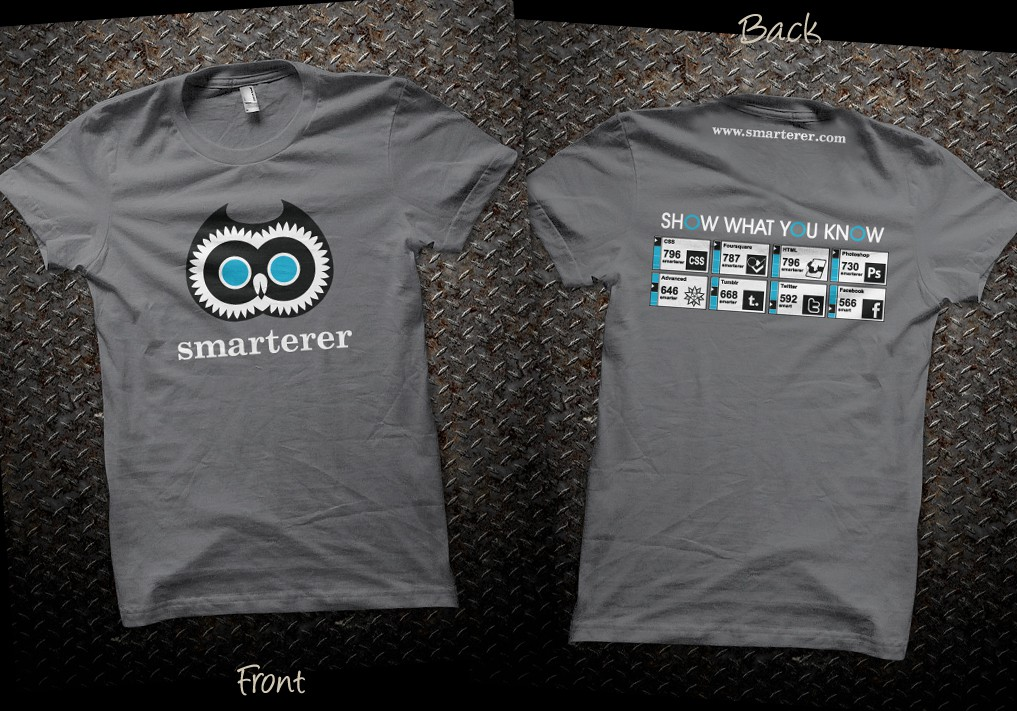 Help Smarterer, an awesome startup, with a new t-shirt design