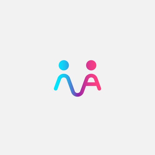 """a """"AN"""" lettermark representing figures holding hands."""