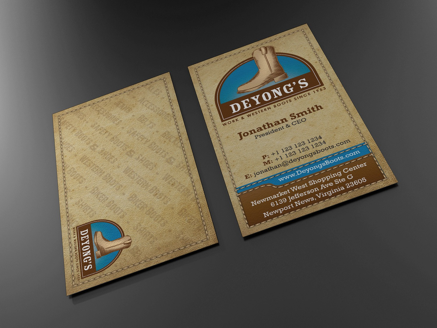 New business card wanted for Deyong's