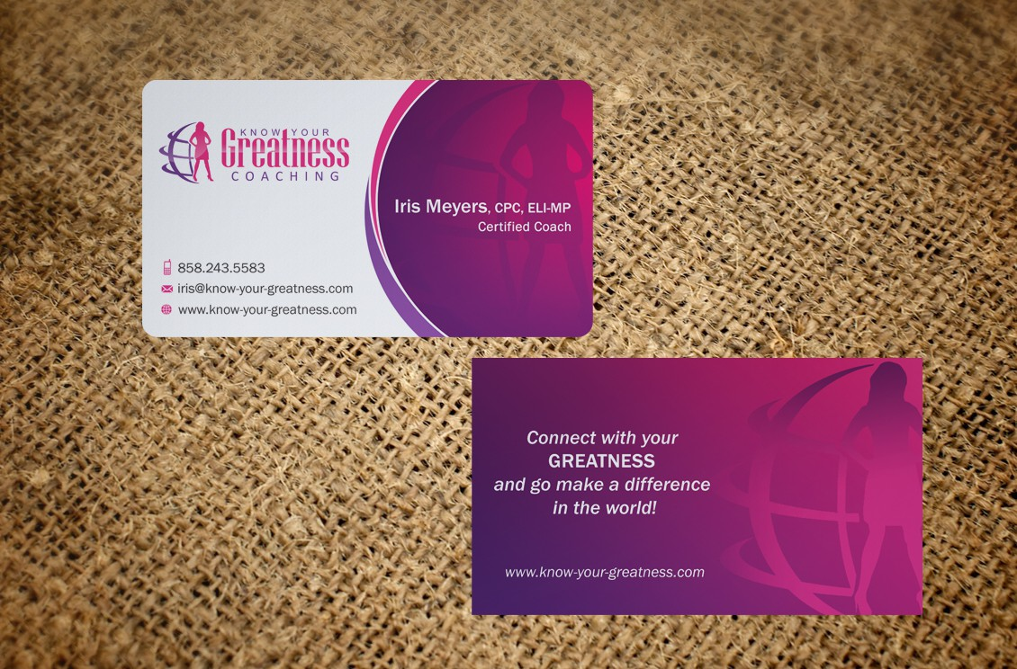 Know Your Greatness Coaching needs awesome Business Card design!