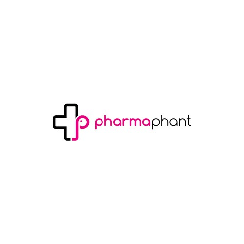 Logo concept for pharmacy store.