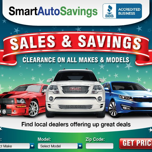 Banner ads concept for SmartAutoSavings.