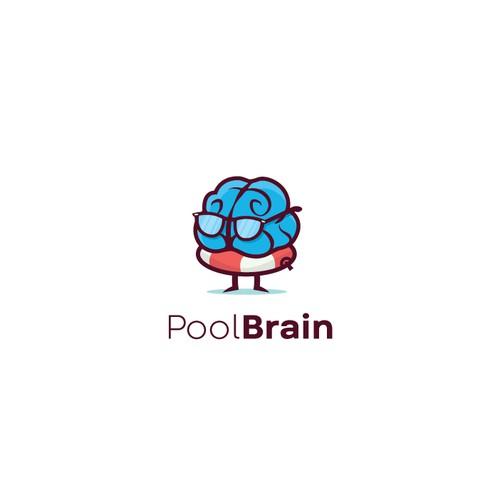 Geeky brain mascot