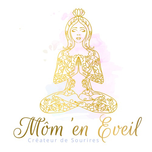 Meditating lady logo
