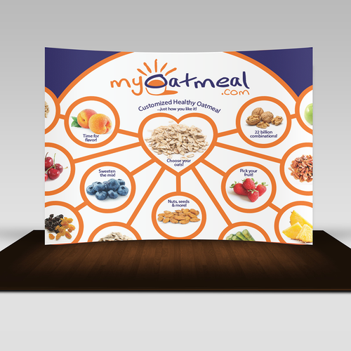 Trade show backdrop design for MyOatmeal.com