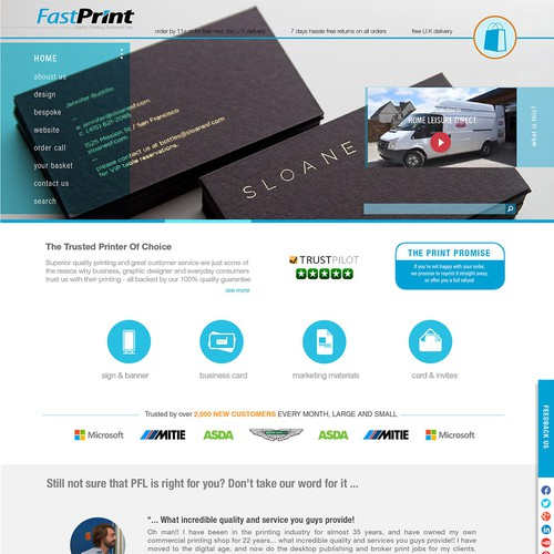 Create the new website for FastPrint
