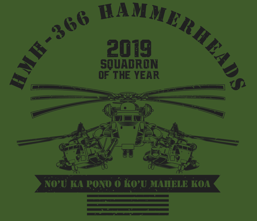 Design A Squadron Of The Year Shirt For A USMC Helicopter Squadron