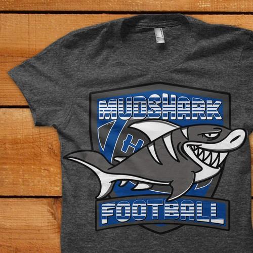 Mud Sharks Football T-Shirt