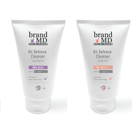 Brand Skin Care Company Label Design