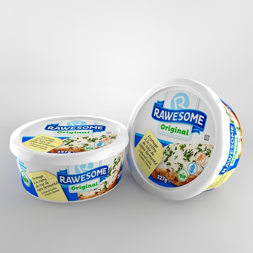 Eye-cathing package design for cream cheese