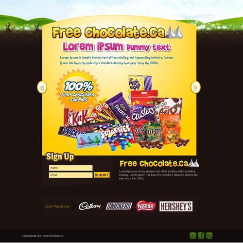 website design for Free Chocolates