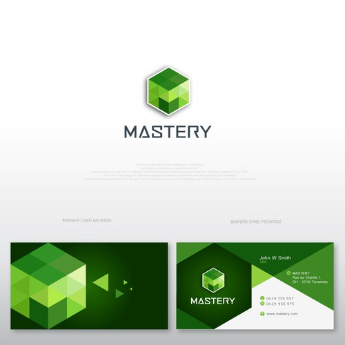 BEST DESIGNERS WANTED FOR MODERN GEOMETRIC LOGO + CARD