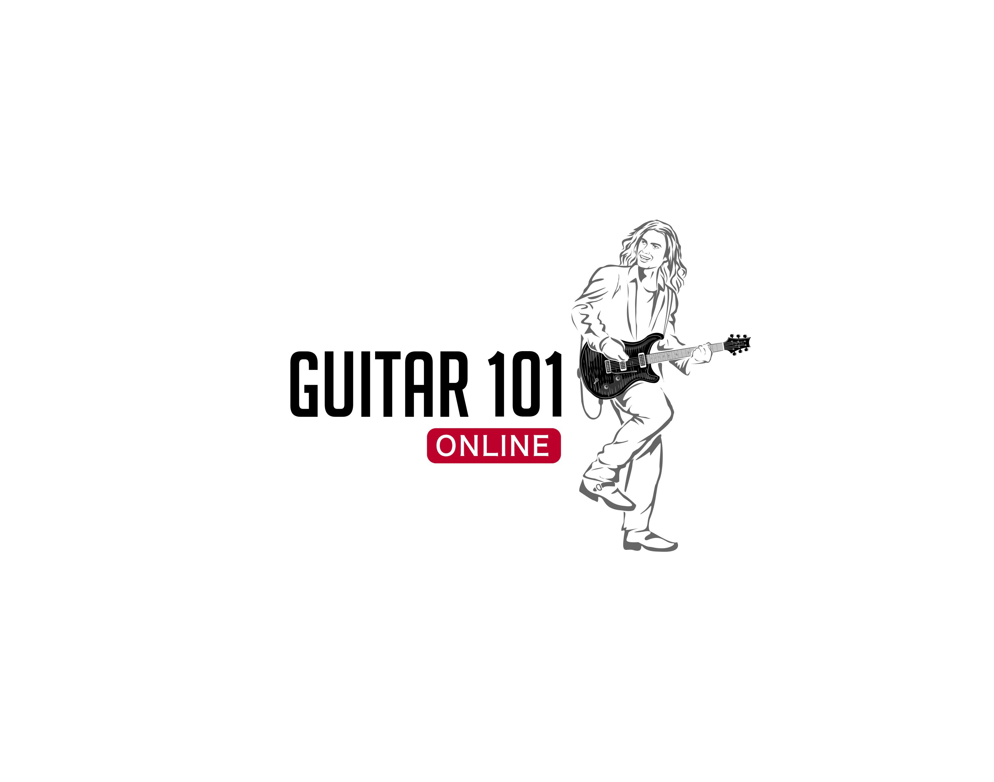 Create a cool logo for GUITAR 101 ONLINE
