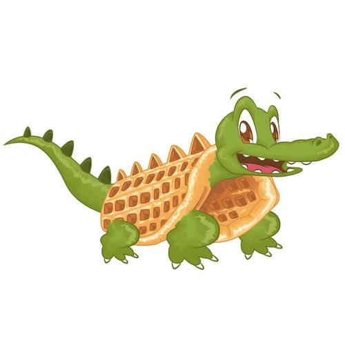 Crocodile Waffle