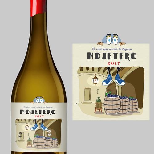 Private wine 'Mojetero' label design