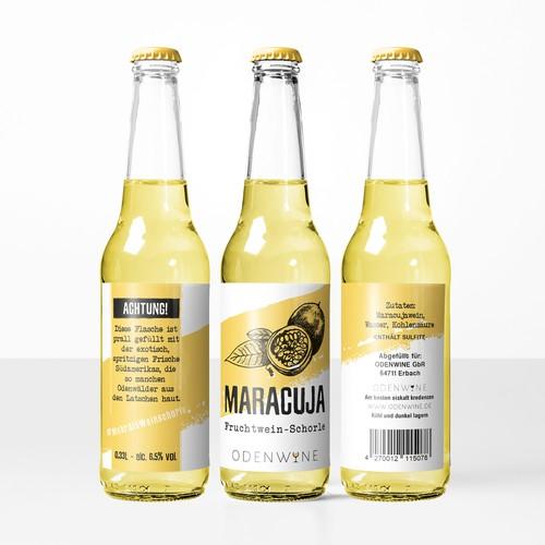 Maracuja wine label