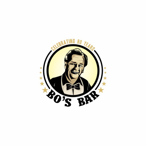 logo concept for bo's bar