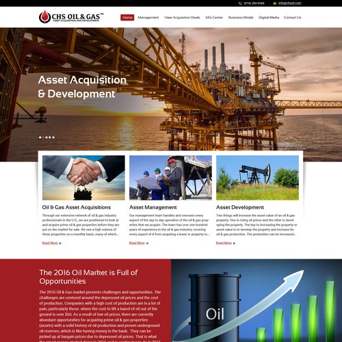 Oil & Gas Website Redesin