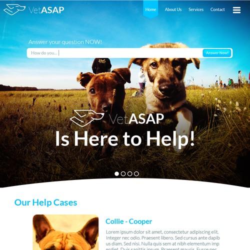 VetAsap web design