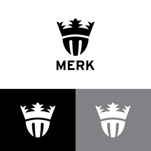 All black logo design for a t-shirt company.