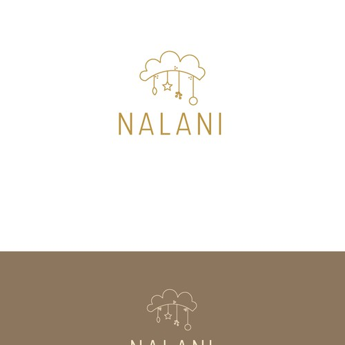 Thin logo concept for NALANI Baby care products