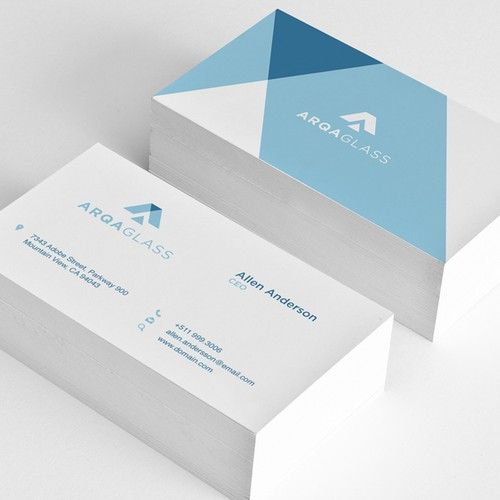 Design a brand identity pack for a glass company shaping the city skylines!