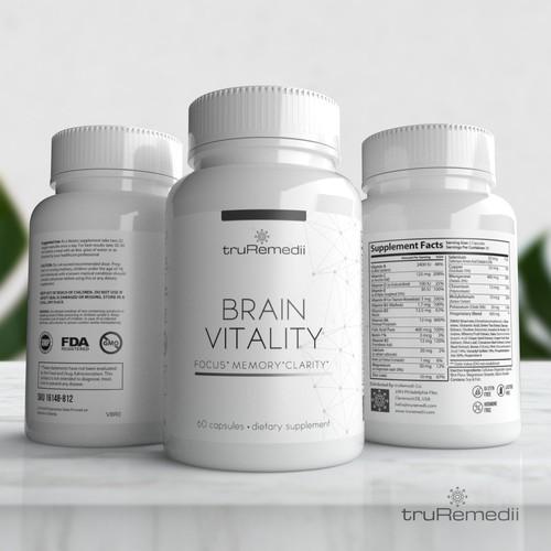 Minimalist Supplement Label For a Premium Brand
