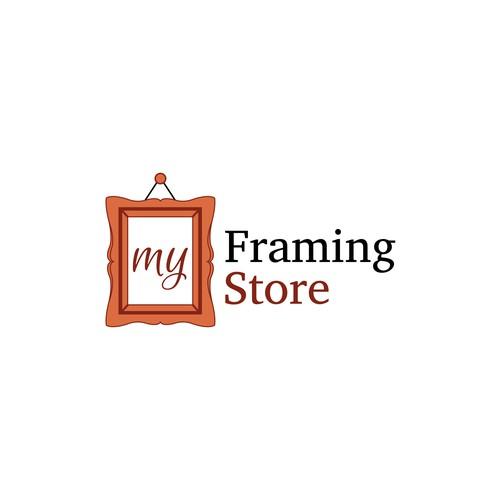 Logo concept for framing store
