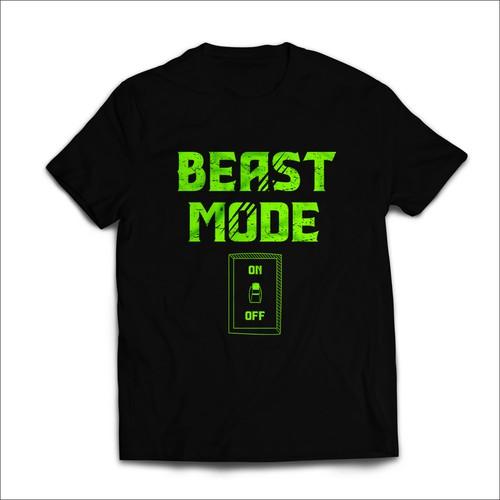 Beast Mode T-shirt Design.