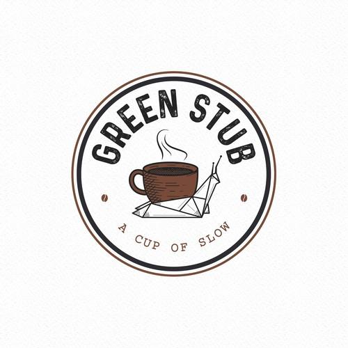 Logo design for Green Stub Coffee shop
